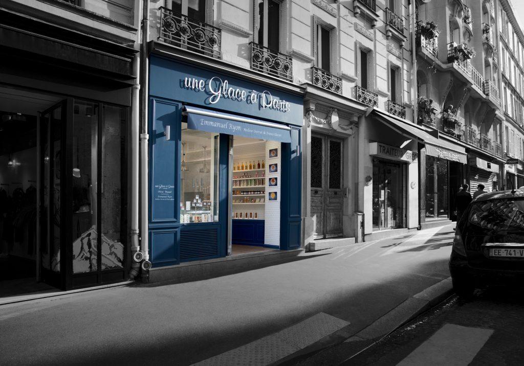 Une glace à Paris, facade de Montmartre