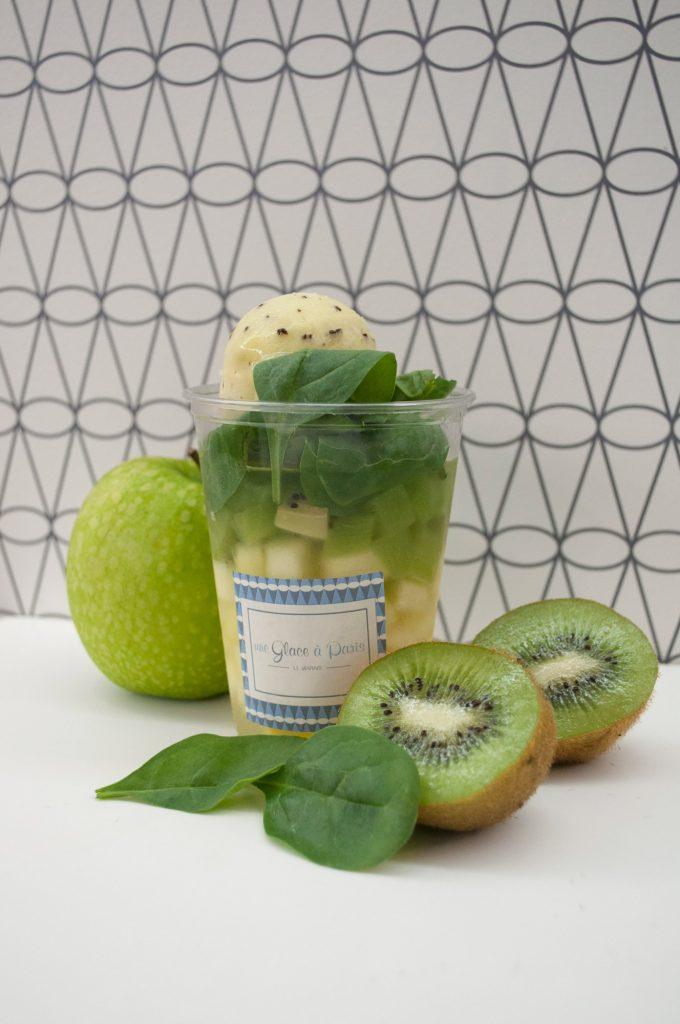 Une glace à Paris, frappé kiwi